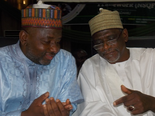 Hon Minister of Education Mal Adamu Adamu (right) and ES NBTE Dr M. A. Kazaure (left)